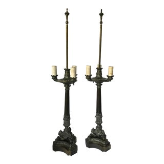 Westwood Hollywood Regency Lamps - a Pair For Sale