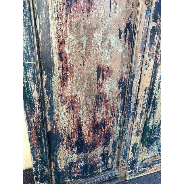 Mid 19th Century Pair of 19th Century Painted Doors For Sale - Image 5 of 9