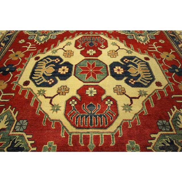 Traditional Super Kazak Rug Red- 8' x 11' - Image 6 of 11
