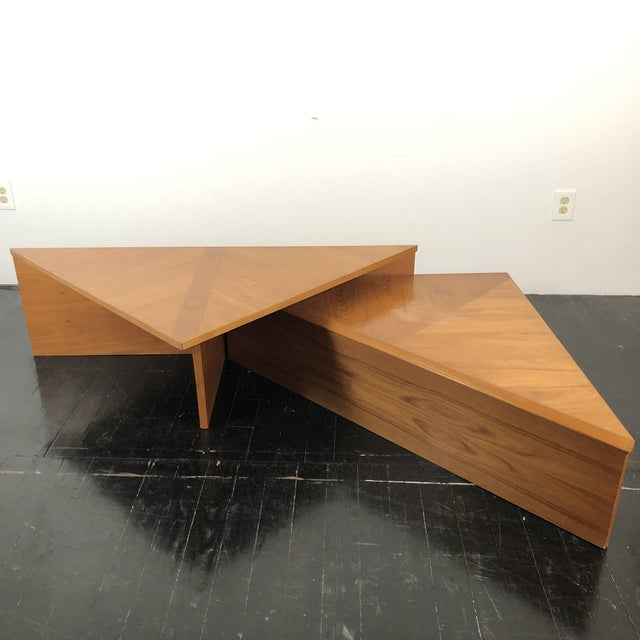 Mid-Century Modern Danish Laurits M Larsen Teak Triangle Coffee Tables - a Pair For Sale - Image 3 of 13