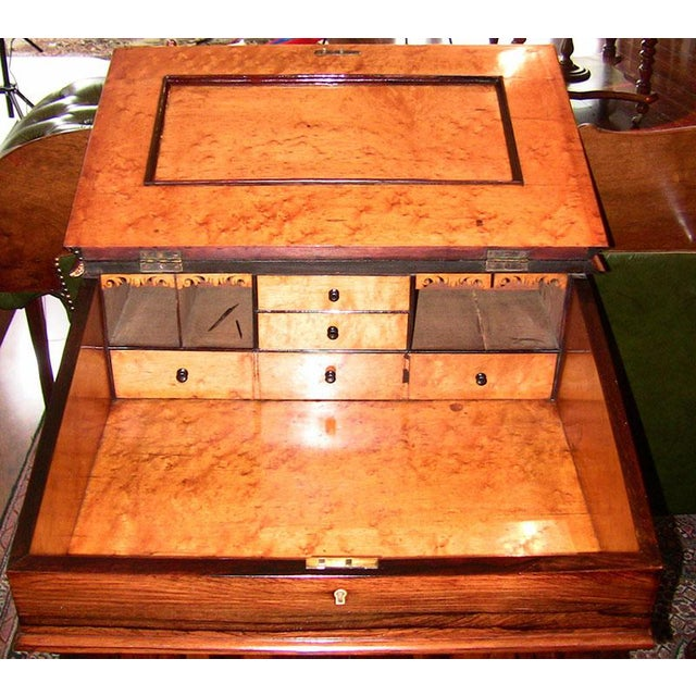 ABSOLUTELY STUNNING rosewood Davenport Desk circa 1825. A Davenport is a type of writing desk name after its creator,...