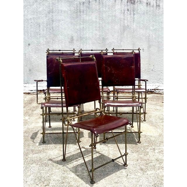 Brutalist Vintage Brutalist Sculpted Rebar Dining Chairs in the Manner of Ilana Goor - Set of 6 For Sale - Image 3 of 13