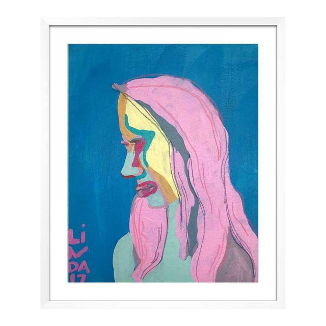 This abstract portrait is by contemporary artist Linda Ward of Detroit. This portrait is #90 out of a series of 500...