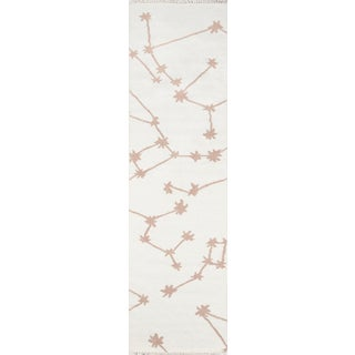 Novogratz by Momeni Jem Stella in Ivory Rug - 2'X8' Runner For Sale