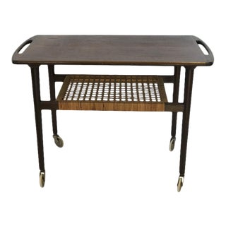 1960s J Moller Danish Mid Century Modern Rosewood Stand Table For Sale