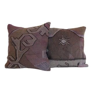 Turkish Kilim Rug Pillow - a Pair
