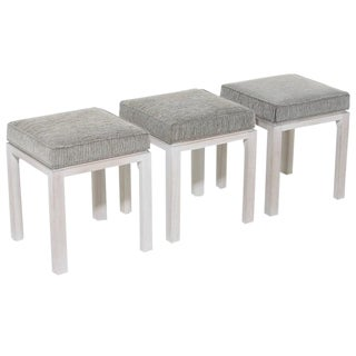 Harvey Probber Bleached Mahogany Stools - Set of 3