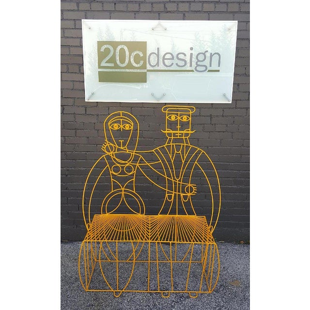 John Risley Monsieur & Mademoiselle Patio Bench Sculpture For Sale In Dallas - Image 6 of 8
