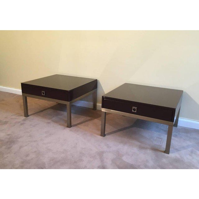 1970s French Pair of Side Tables by Guy Lefèvre for Maison Jansen - Image 10 of 11