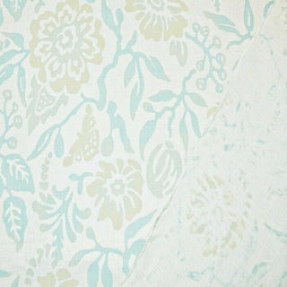 Boho Chic Galbraith & Paul Primitive Flower Linen Designer Fabric by the Yard Preview
