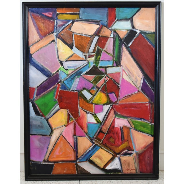 Juan Pepe Guzman Colorful Abstract Oil Painting For Sale - Image 9 of 9
