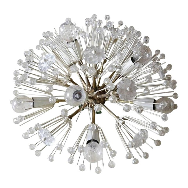 Vintage Sputnik Chandelier by Emil Stejnar For Sale