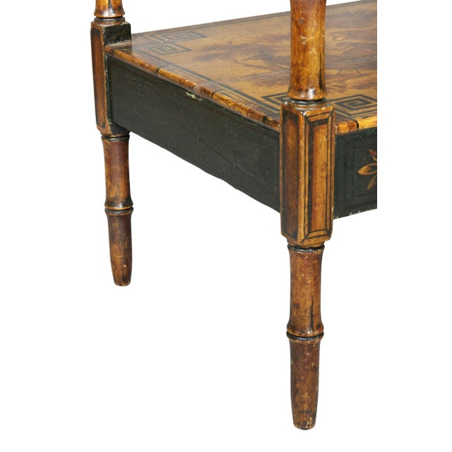 Regency Stencilled and Painted Side Table For Sale - Image 9 of 13