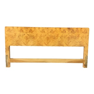Mid Century Burl Wood King Headboard