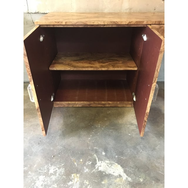 1980s Mid-Century Modern Burlwood Veneer Desk For Sale - Image 11 of 13