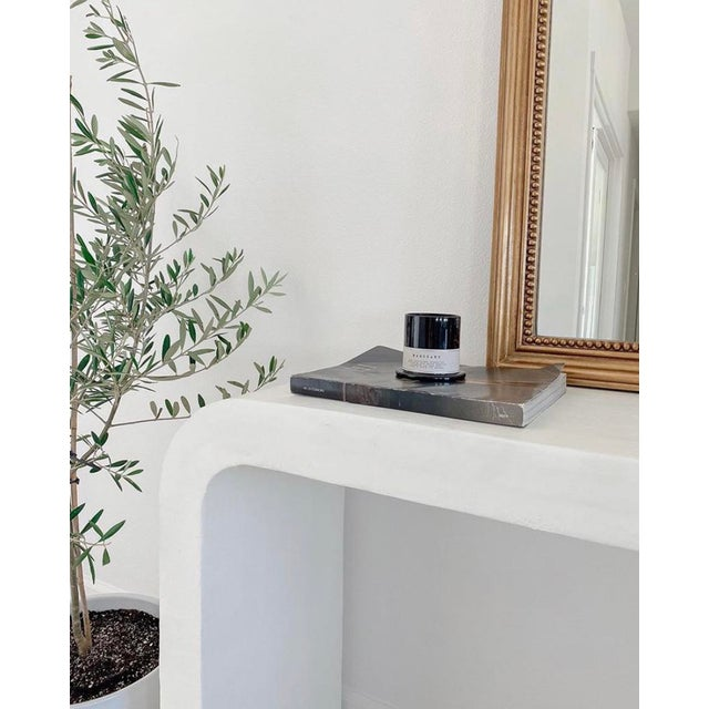 Not Yet Made - Made To Order Marit Mid-Century Raw Plaster Waterfall Console For Sale - Image 5 of 6