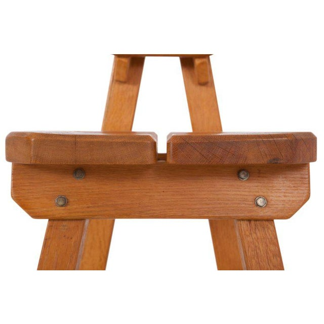 Brutalist Oak Spanish Dining Chairs For Sale - Image 12 of 13