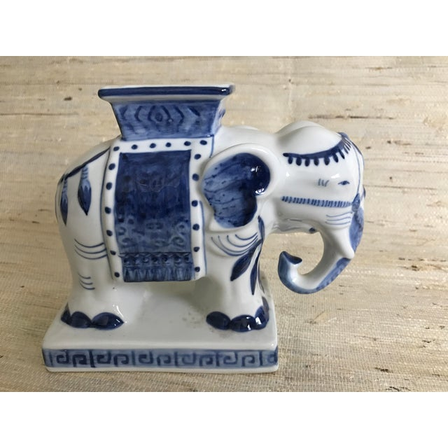 Blue & White Ceramic Elephant Incense Burner - Image 3 of 5