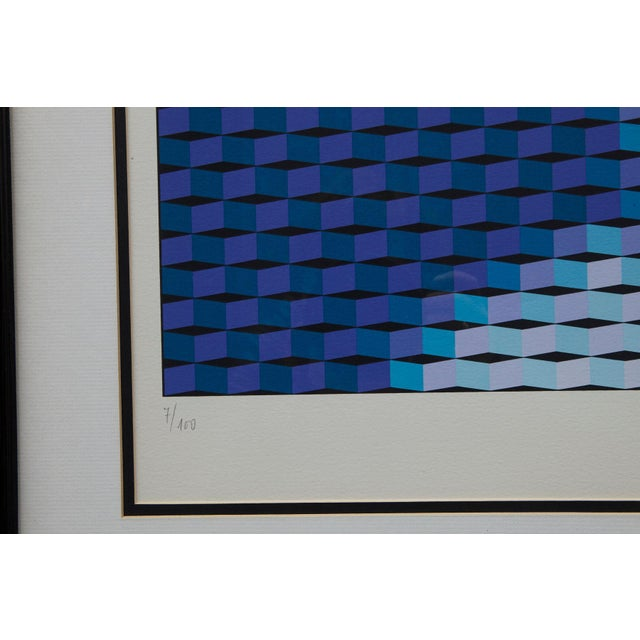 """Drawing/Sketching Materials Yvaral (Jean-Pierre Vasarely) """"Mona Lisa"""" Serigraph For Sale - Image 7 of 8"""
