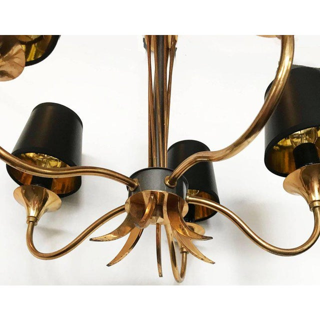 Mid-Century Modern Maison Lunel Five-Light Chandelier For Sale - Image 3 of 6