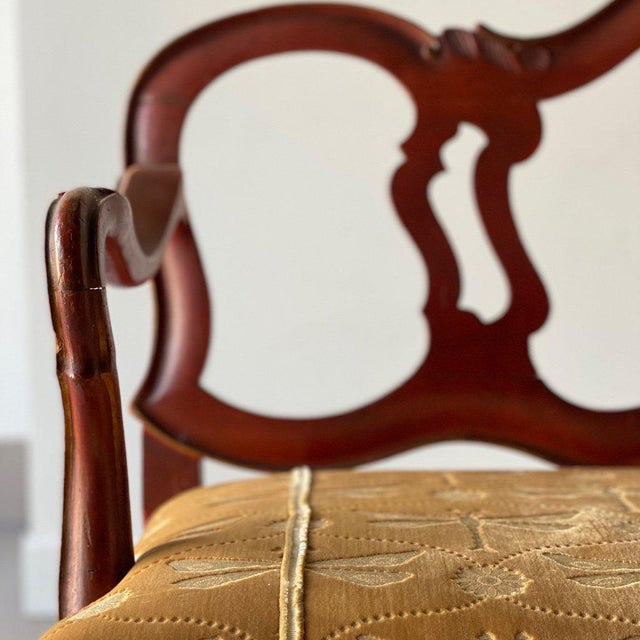 Late 18th Century Venetian Carved and Painted Settee For Sale - Image 4 of 10