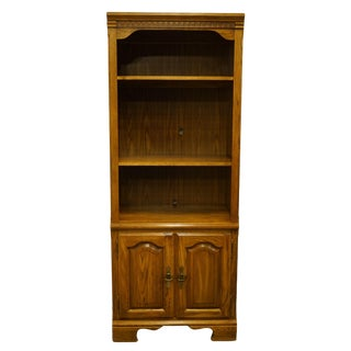 Kincaid Furniture Solid Walnut Wall Unit Cabinet Bookcase For Sale