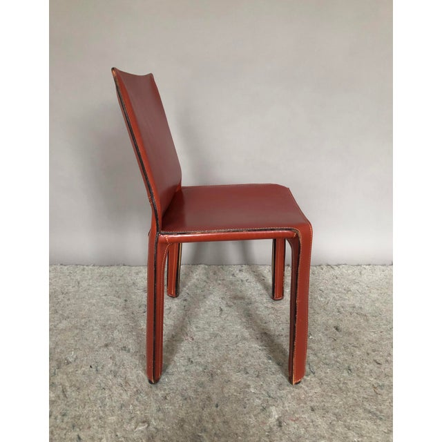 Cassina Cab Dining Chairs by Mario Bellini for Cassina - Set of 4 For Sale - Image 4 of 7