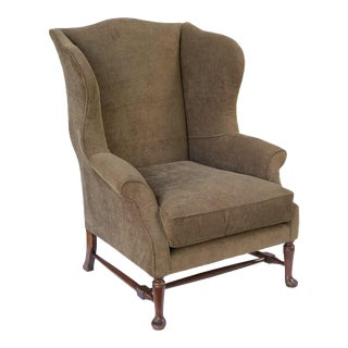 English Wingback or Library Armchair For Sale