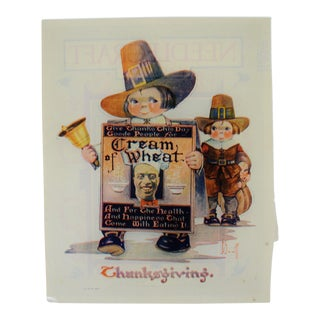 1923 Thanksgiving Cream of Wheat Print Ad, G. Scott Art For Sale