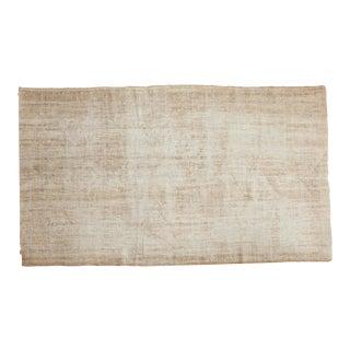 "Vintage Distressed Oushak Carpet - 5'10"" x 10'3"" For Sale"