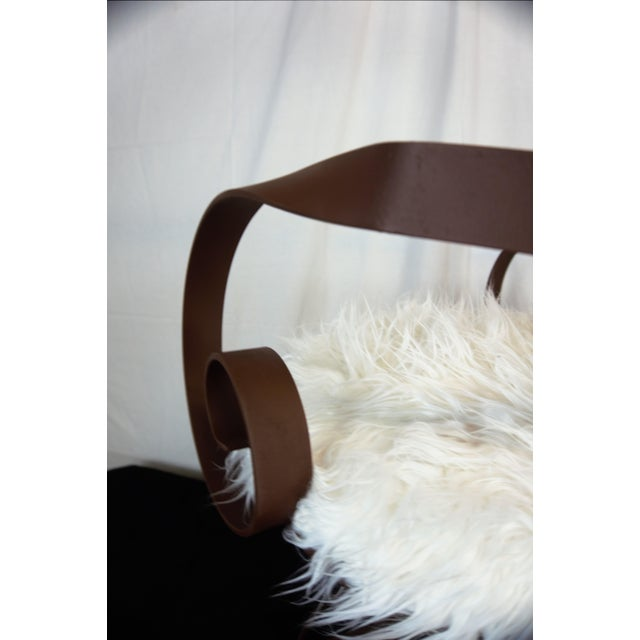 Sultana Style Metal & Faux Fur Chairs - A Pair For Sale - Image 5 of 10