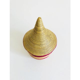 Vintage Pink and Tan Lidded Basket Preview