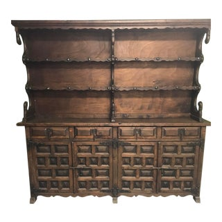 Antique Wooden Spanish Hutch For Sale