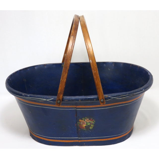 1890s Antique Grocery Shopping Carry Basket For Sale - Image 13 of 13