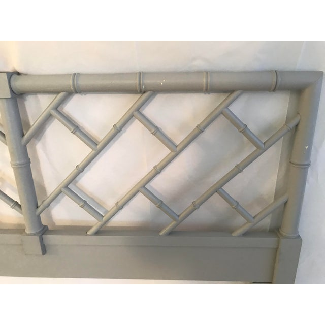 Henry Link Bali Hai Chinese Chippendale Queen Fretwork Headboard For Sale - Image 6 of 9