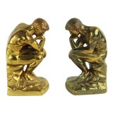 Image of Vintage Thinker Bookends - a Pair For Sale