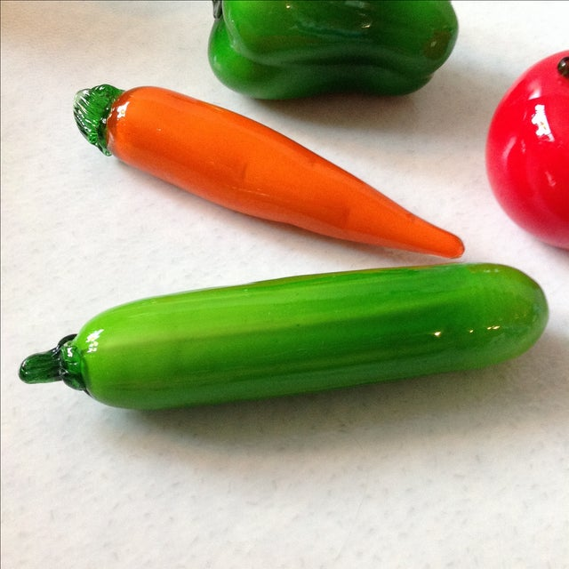 Italian Glass Vegetables - Set of 4 - Image 3 of 7