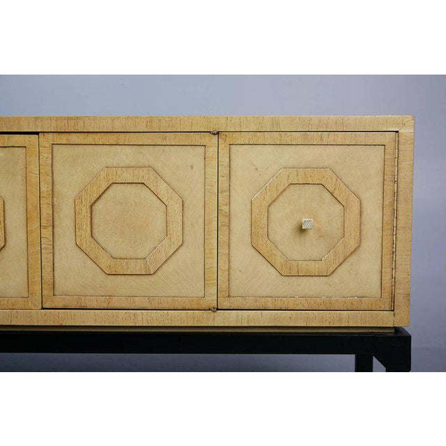 Metal Harold Schwartz for Romweber Sideboard With Decorative Tile Pulls, Circa 1970 For Sale - Image 7 of 11