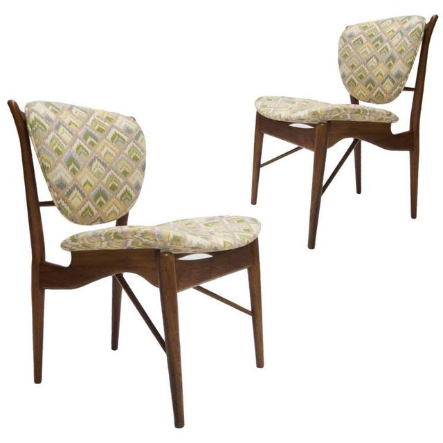 Mid-Century Modern Pair of Finn Juhl NV-51 for Baker Furniture Occasional, Desk or Dining Chairs For Sale - Image 3 of 8