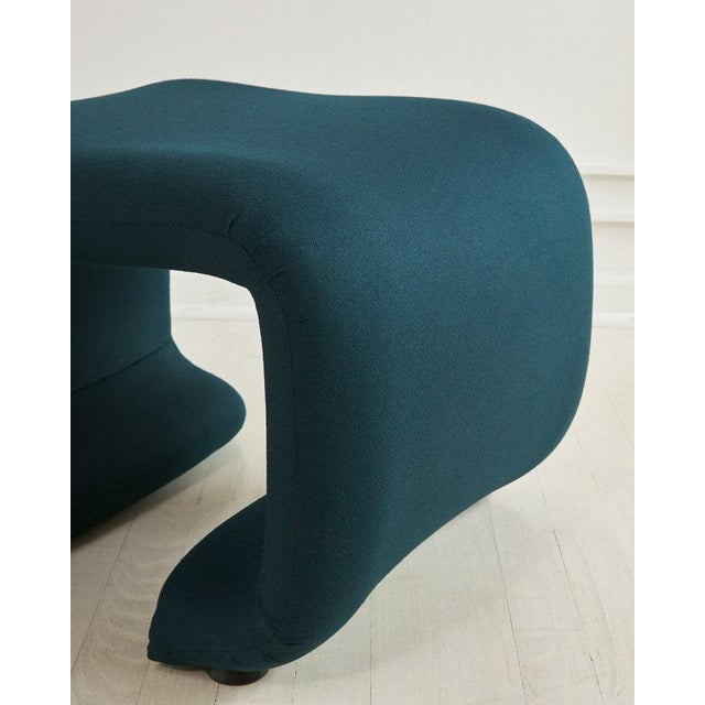1970s European Undulating Ribbon Chair and Ottoman, 1970s For Sale - Image 5 of 6