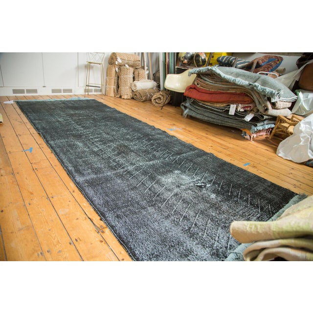 """Vintage Overdyed Distressed Runner - 4'8"""" x 12'6"""" - Image 2 of 9"""