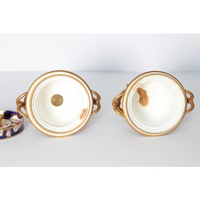 Pair of 19th Century English Porcelain Fruit Coolers With Covers For Sale - Image 11 of 13