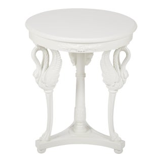 Tripod Side Table with Swans as Supporting Legs For Sale