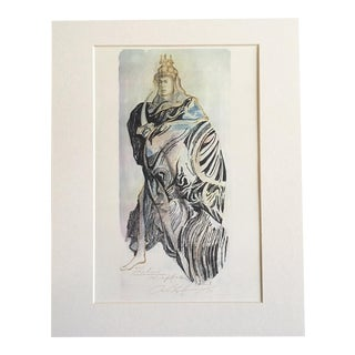 "Vintage Stratford Festival Costume Design Folio, Shakespeare's ""Pericles"" Costume Print For Sale"