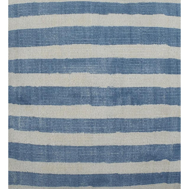 Block Printed Indigo Striped Pillow - Image 2 of 2