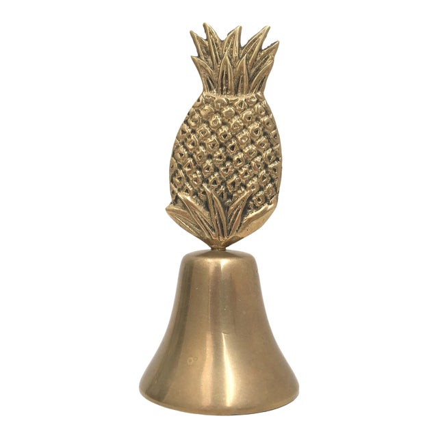 Vintage Brass Pineapple Bell For Sale