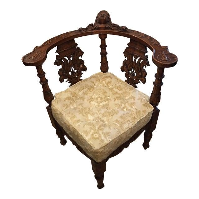 antique carved italian corner chair chairish