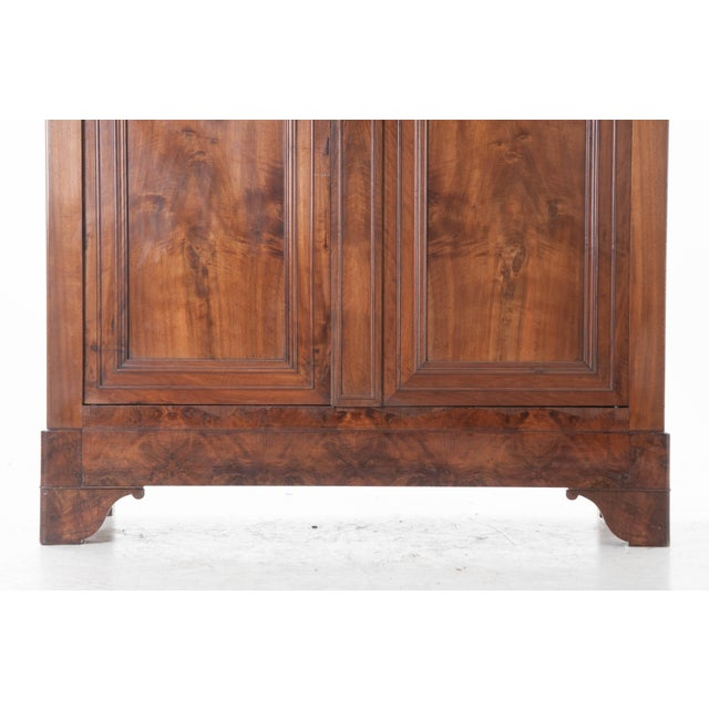 French 19th Century Walnut Louis Philippe Armoire - Image 3 of 10