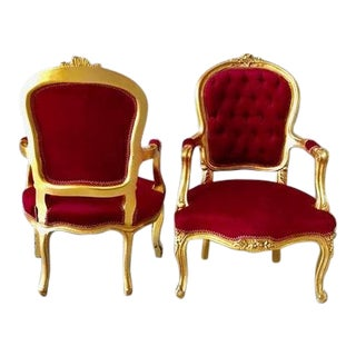Modern Louis XV Style Chairs- A Pair For Sale