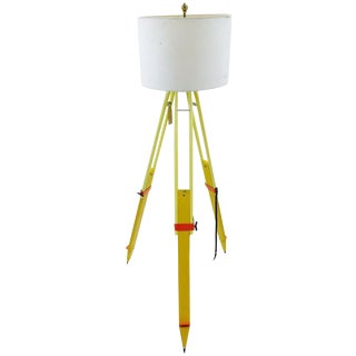 Hand Made Surveyors Tripod Lamp For Sale